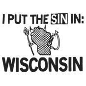 "I pit the ""SIN"" in Wisconsin 1 color"