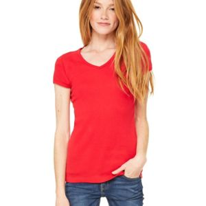 Women's Baby Rib Short Sleeve V-Neck Tee Thumbnail